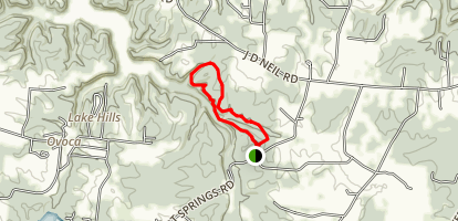 Short Springs Loop Trail Map