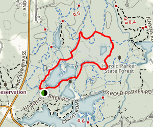 Brackett Pond and Bear Pond Loop Map