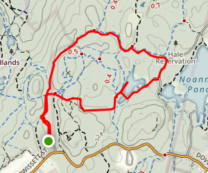 Strawberry Hill and Powisett Pond Loop Map