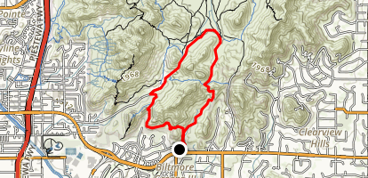 Quartz Ridge and LV Yates Loop Map