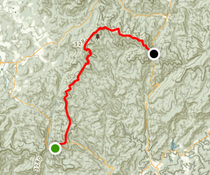 Appalachian Trail: Hogpen Gap to Unicoi Gap Map