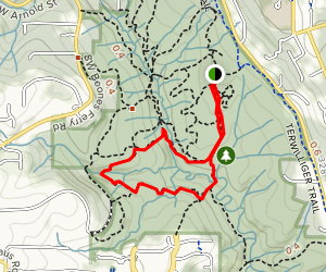 Old Man Trail to Cedar Trail and West Horse Loop  Map