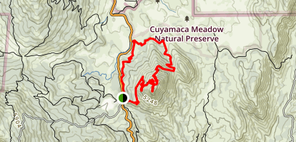 Cold Stream and Stonewall Peak Loop Map