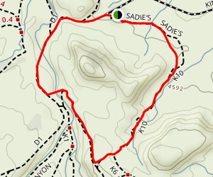 Sadie's Trail and Devil's Canyon Loop Map