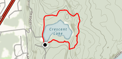 Crescent Lake and Metacomet Trail Loop Map