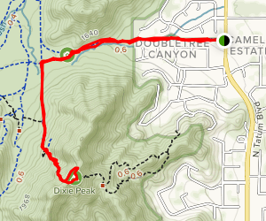 Dixie Peak from Trail 100 Map