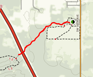 The Cross Florida Greenway Land Bridge (The Florida Trail) Map