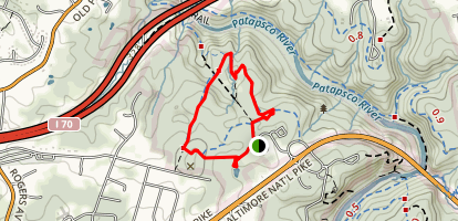 Old Ranger Trail (Blue) Map
