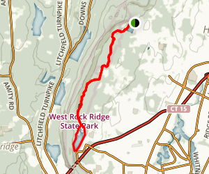 West Rock Trail from Hill Street Map