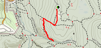 Coal Creek Falls Trail Map