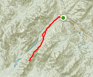 Mount Colvin and Blake Peak Trail Map