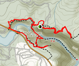 Tallulah Gorge Lookouts and Cascade Falls Map