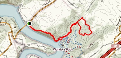 Devil's Backbone and Fall Creek Loop Map
