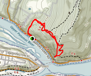 Maryland Heights via Overlook Cliffs and Combined Trail Map