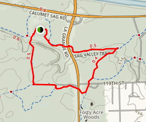 Sag Valley Short Loop from Swallow Cliffs Sledding Hill Map