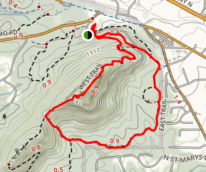 East and West Trail Loop Map