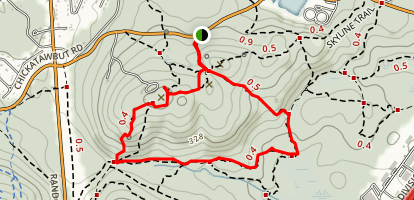 Kitchamakin Hill and Chickatawbut Hill Loop via Skyline Trail Map