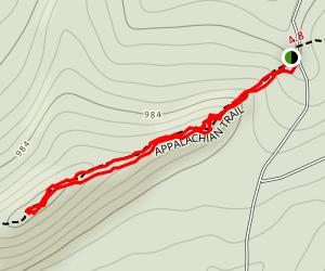 Appalachian Trail: Whisky Spring to Rocky Ridge Map