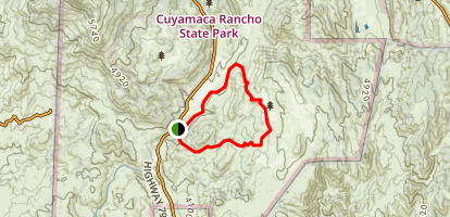 Eastside, Juaquapin, Dyar Spring and Harvey Moore Loop Map