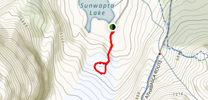 Athabasca Glacier Toe Trail Map