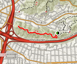 Scholl Canyon Fire Road  Map