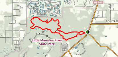 Little Manatee River State Park Loop Map