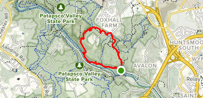 Grist Mill Trail to Nunnery and Soapstone Trail [CLOSED] Map