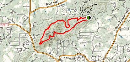 Hilltop, Mountainside and Ridgeline Loop Map