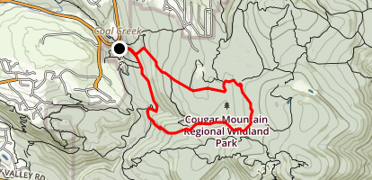 Cave Hole, Fred's Railroad, Quarry, Indian and Red Town Loop Map