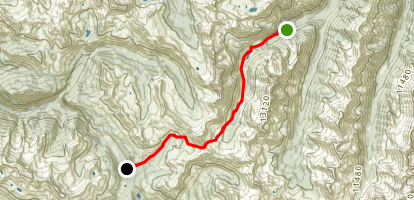 Crater Lake and Maroon Creek to East Fork Map
