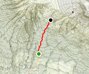 Machame Gate to Machame Hut, Mount Kilimanjaro Machame Route Map