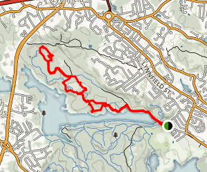 Deep Woods Trail East and West Loop Map
