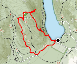 Mansell Mountain via Perpendicular, Razorback and Cold Brook Trail Loop Map