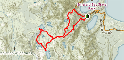 Granite Lake Trail to Dick's Lake, Fontanillis Lake, Middle and Upper Velma Lake, and Eagle Lake Map