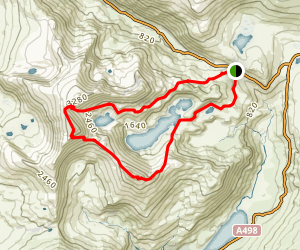Pyg Track and Watkin Path Loop Map