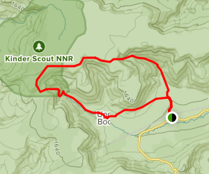 Kinder Scout Loop from Edale Map
