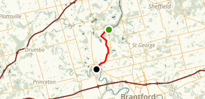Grand River: Glen Morris to Paris Map