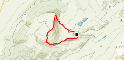 Pendle Hill and Ogden Reservoir Map