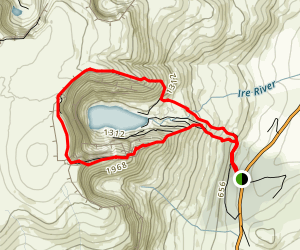 Coumshingaun Lough Loop Map