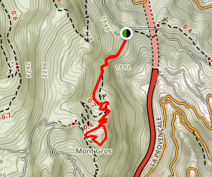 Tour du Mont Gros Map