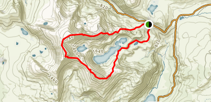 Snowdon Horseshoe Map