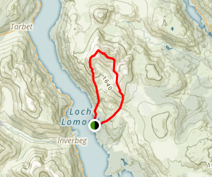 Ben Lomond via Ptarmigan Ridge Path Map