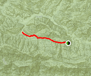 Blue Canyon To Cottam Camp Map