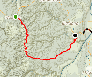 Oaks Fire Trail: Woodford to Glenbrook Map