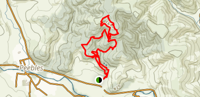 Caresman Hill Via Glentress Red Loop Map
