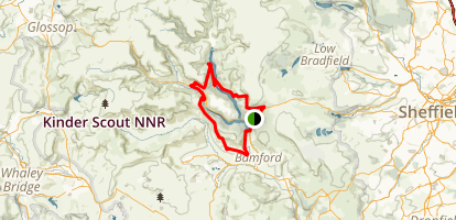 Ladybower Reservoir Loop Map