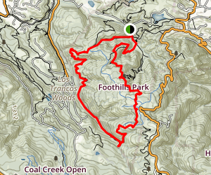 Los Trancos Trail Loop Map