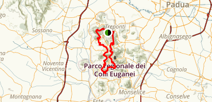 Traversata Colli Euganei Map