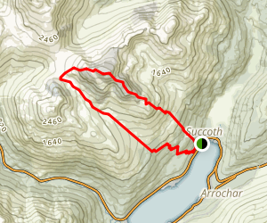 Beinn Narnain Loop Map