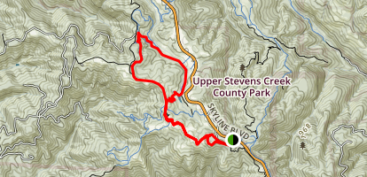 Bay Area Ridge Trail, Long Ridge Road, and Peters Creek Trail Map
